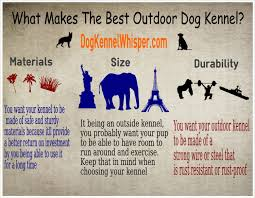 what makes the best outdoor dog kennel visual ly