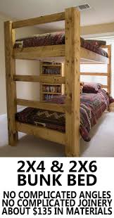 Wood Bunk Bed Plans by Build Your Own Bunk Bed Super Easy And Super Strong Diy Wood