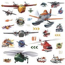 planes fire u0026 rescue peel stick wall decals wall sticker shop