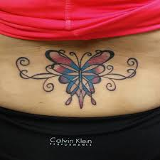 colourful butterfly and designs lower back tr st