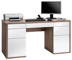 High Gloss White Desk by Furniture White Wooden Computer Desk With Hutch And Keyboard Tray