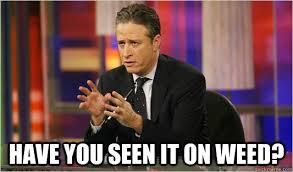 Jon Stewart Memes - have you seen it on weed jon stewart quickmeme