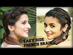 easy indian hairstyles for school cute easy everyday side french braid ponytail for school college