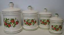 strawberry canisters ebay