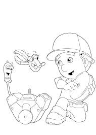handy manny felipe squeeze coloring pages handy manny