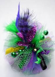 mardi gras bow mardi gras feather fascinator dog hair bow style 2 2328249