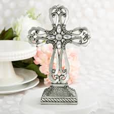 baptism table centerpieces baptism table centerpieces large pewter cross statue free