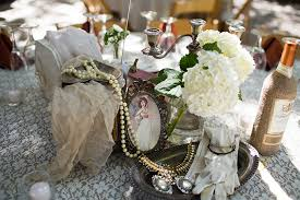 Vintage Centerpieces Vintage California Estate Wedding Glamour U0026 Grace