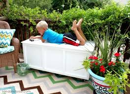Outdoor Storage Bench Diy by Outdoor Storage Bench With Cushion Outdoor Patio Storage Bench Our