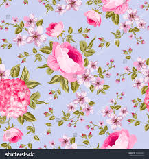 luxurious peony rose hydrangea wallpaper vintage stock vector