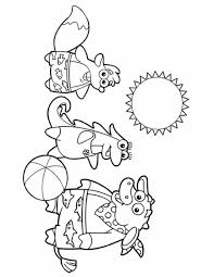 dora coloring pages backpack diego boots swiper print color