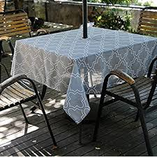 tablecloth for patio table with umbrella amazon com high quality outdoor tablecloths umbrella hole with