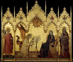 martini two the annunciation and two saints by simone martini artpaintingartist
