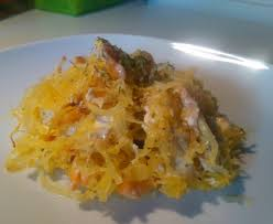 comment cuisiner une courge spaghetti courge spaghetti au saumon recette de courge spaghetti au saumon