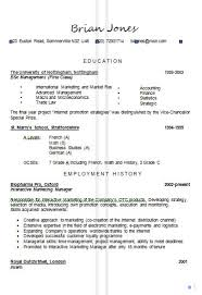 Resume Example Templates Spanish Resume Examples Sample Resume For Graduate Sample