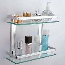 Bathroom Glass Shelves With Rail Bathroom Glass Shelf Rail Aluminum Thick Tempered Glass Wall