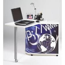 bureau informatique noir bureau informatique avec plateau pivotant déco futur