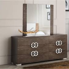 Lacquer Bedroom Set by Modern Decor Multi Toned Contemporary Lacquer Bedroom Set