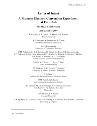 Grant Letter Of Intent by Letter Of Intent A Muon To Electron Conversion Experiment At
