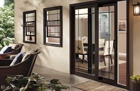 Pella Patio Doors Exterior Glass Pella Patio Doors With Decorative Plant On Pot
