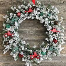 christmas wreath vintage truck christmas wreath a pretty life in the suburbs