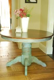 Kitchen  Kitchen Table Make Over Dk Walnut Stain On Top And - Distressed kitchen tables