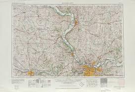 United States Map Kansas City by Kansas City Topographic Map Sheet United States 1956 Full Size