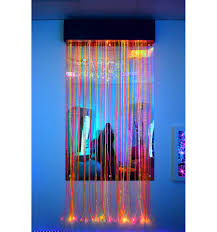 Mirror Curtain Uv Fibre Optic Curtain With Pelmet And Mirror Total Sensory