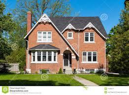 red brick house stock photo image 41282517