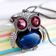 crystal owl pendant necklace images Georgette nickerson crystal owl necklace jpg