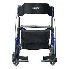 Transport Walker Chair Rollator Transport Chair Walker Lumex Hybrid Lx Lx1000