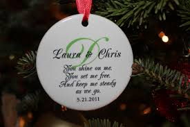 ornaments our married ornament saying