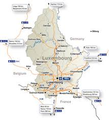 map of the road luxembourg maps luxembourg
