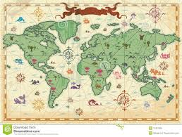 Fantasy World Map by Map Of The Fantasy World 3 Stock Illustration Image 39487599