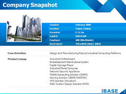 ibase company profile september ppt