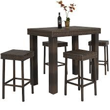 amazon com best choice products 5 pc wicker high dining furniture