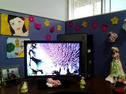 Decorate Office Desk Ideas Chic Cubicle Decoration