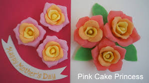 how to make play doh roses u0026 fondant roses for a mother u0027s day cake