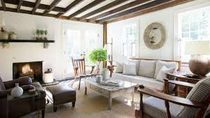 cottage living room also ceiling wooden beams for inspired roof