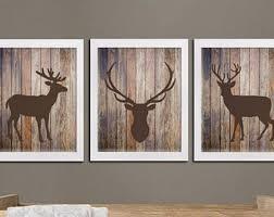 deer wood wall deer antler wall etsy