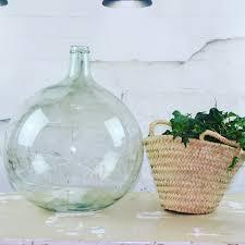 dame jeanne deco dame jeanne bonbonne vase forme bouteille en verre recyclé transparent