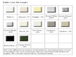 Kohler Toilet Seat Colors Kohler Color Chart Nujits Com