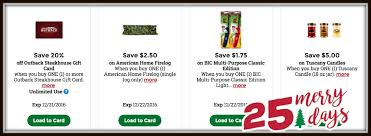 kroger 25 merry days high value coupons for bic lighter tuscany