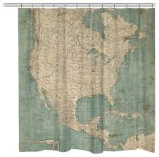 Shower Curtain World Map North America Map Shower Curtain Traditional Shower Curtains