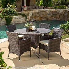 patio dining set clearance 5 piece furniture outdoor wicker steel