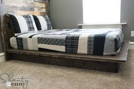 Build A Platform Bed With Storage Plans by Easy Diy Platform Bed Shanty 2 Chic