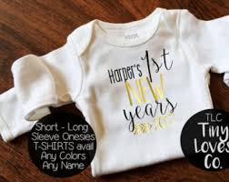 new year baby clothes new years etsy