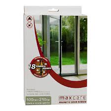 Magnetic Fly Screen For French Doors by Maxcare Magic Door Screen 1 Pack The Warehouse