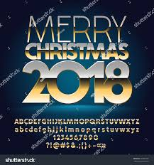 vector merry 2018 greeting card stock vector 729899722