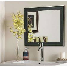 Vintage Mirrors For Bathrooms - black mirrors wall decor the home depot